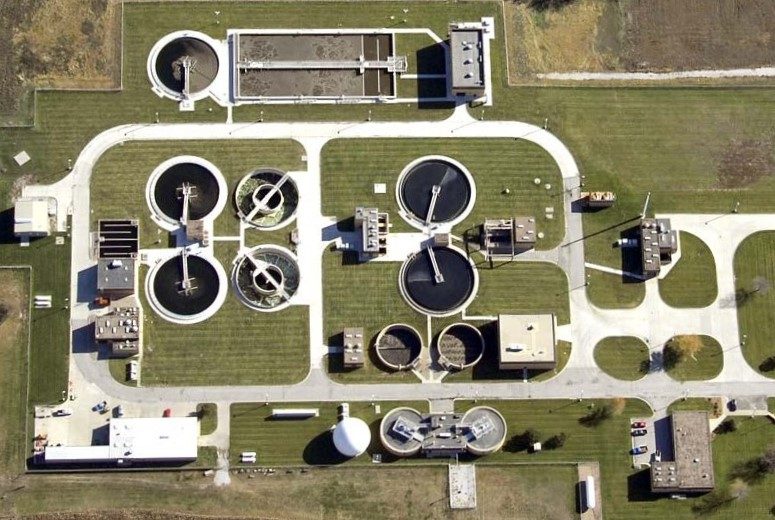 Typical Advanced Wastewater Treatment Plant