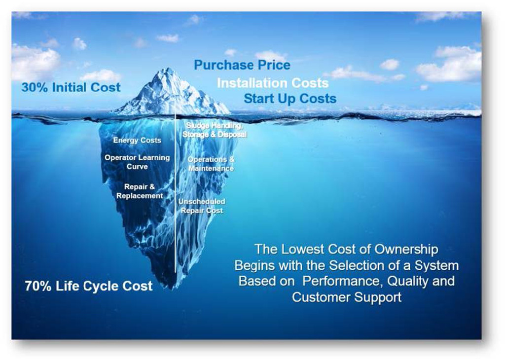 Cost Of Ownership Iceberg Infographic