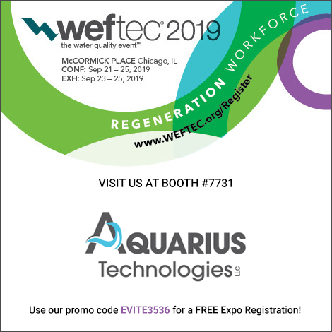 Aquarius Technologies LLC Weftec19 470x470